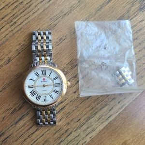 Michele Serein Two Tone diamond dial watch